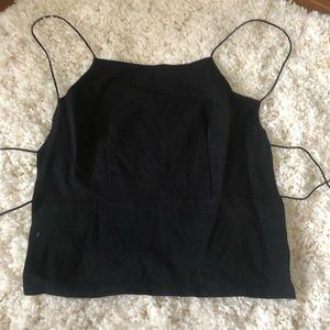 Lulus black tie up top